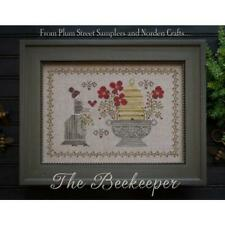 The Beekeeper Plum Street Samplers Cross Stitch Pattern