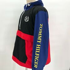NWT Tommy Hilfiger Mens Hooded Pullover 1/2 Zip Color...