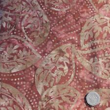 Terracotta and Brown Leaf Pattern Batik Patchwork Fabric 100% cotton