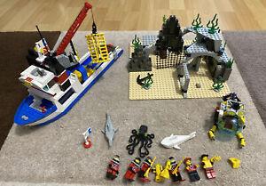 Lego Set 6560 Divers Taucher Schatzsucher Tiefsee Unterwasser U-Boot Komplett!