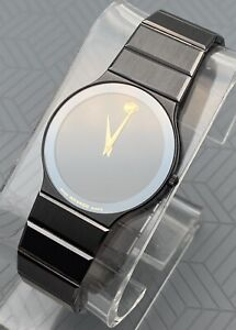 Swiss Movado Sapphire Classic Ultra Thin Case, PVD Coated S.Steel Men's Watch