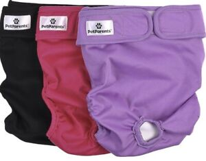 Washable Dog Diapers Fits Male and Female PetParents Sz M