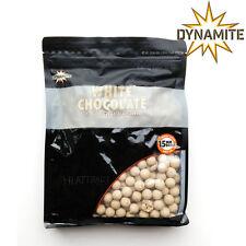 DYNAMITE BAITS WHITE CHOCOLATE & COCONUT CREAM 15MM BOILIES 1KG BAG FRESH CARP