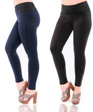 New Women's Skinny Girls Leggings Low Waist Trouser Blue Pant Sizes 8 10 12 14
