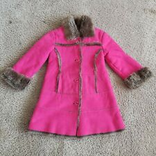 The Children's Place Pink Faux Fur Jacket Girls Size 4T