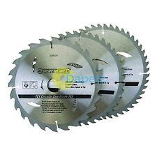 """Qualité 205 mm 8 """"TCT Lames de scie circulaire 24 40 48 DENTS 3pk 30mm alésage"""