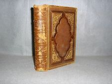 Antique 1869 Words of Cheer T.S. Arthur Hardcover Leather Decorative Decor Book