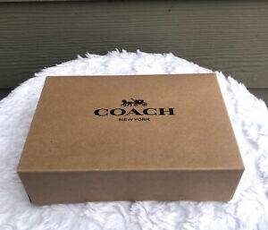 """NEW COACH X-Small Paper Gift Box for Wallet - Size 6.5""""x4.5""""x2"""" - BROWN Color"""