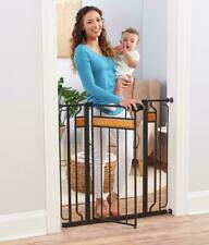 Thru Safety Gate Baby Indoor Security  Pet Door Gates Fence