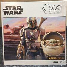 Star Wars The Mandalorian Puzzle - Baby Yoda Front- 500 Pieces - Disney- Buffalo