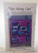 """""""Too Many Cats"""" Instruction Kit Wall Hanging Machine Applique Vintage 1989"""