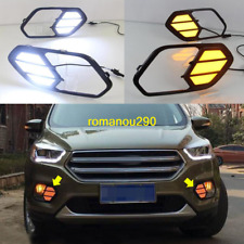 For Ford 2017-2019 Escape Kuga LED DRL Daytime Running Light Front Fog Lights