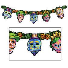 Sugar Skull DIA DE LOS MUERTOS Day of the Dead STREAMER Banner Party Decoration