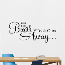 Quotes Wall Decal Breath Away Vinyl Sticker Baby Nursery Bedroom Decor 229crt