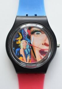 Vintage 1950s Movie Poster watch   -  Retro 80s vintage style designer watch