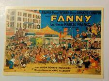 carte postale cinéma film FANNY Marcel Pagnol affiche Albert Dubout