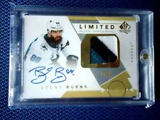 2018-19 SP AUTHENTIC HOCKEY 3 COLOR JERSY ON CARD AUTO BRENT BURNS 24/25 SHARKS