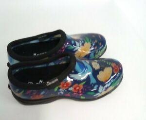 Sloggers Waterproof Peaceful Comfort Garden Shoe, Blue, 6