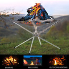 Portable Outdoor Fire Pit Collapsing Stainless Steel Mesh Fire Stand Stove Frame photo