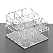 2 Tiers Clear Acrylic Cosmetic Makeup Organizer Lipsticks Display Holder Drawer