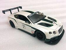 Bburago 1:24 Bentley Continental GT3 #7 Race Car Diecast Display Model White