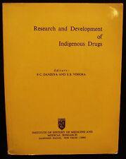 RESEARCH AND DEVELOPMENT INDIGENOUS DRUGS Dandiya Vohora India Medicine Health