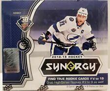 2018-19 UPPER DECK SYNERGY Hockey pasatiempo caja nuevo sellado de fábrica programa de recompensas