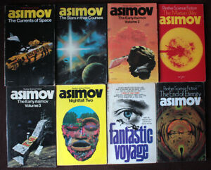 Isaac Asimov - 8 science fiction vintage paperbacks