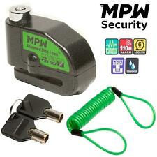 MPW Motorcycle Alarm Disc Lock Motorbike Scooter 110dB Bike Bicycle Security
