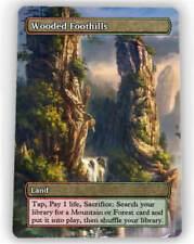 === 4X Wooded Foothills X4 == Full Art Borderless ==