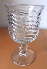 "DUNCAN & MILLER ""CARIBBEAN"" CLEAR GOBLET FOOTED BALL STEM 8 OUNCE"