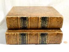 1817 Self interprétant marrons Bible Cuir Antique Bound 2 volumes Moon famille