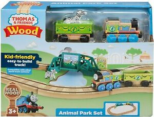 Fisher Price Thomas & Friends Wood Animal Park Set GGH25 NEW