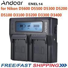 Andoer 2* Battery Charger Plate Nikon D5600 D5500 D5300 D5200 D5100 D3100 D3200