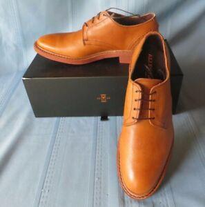 Men's Allen Edmonds MACKENNA Cognac Leather Shoes  9D  NIB