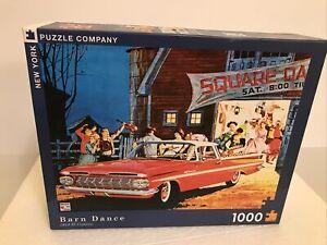 New York Puzzle Company barn dance  1959 Chevy El Camino 1000 Piece Puzzle