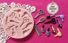 Make up Salon Set Set silicone mold fondant cake decorating APPROVED FOR FOOD