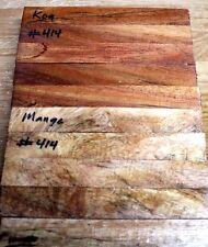 """HAWAIIAN SPALTED MANGO WOOD/KOA PENBLANKS   #414(5EA.)( 6"""" X 3/4"""" X 3/4"""")"""