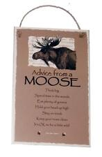 "Advice from a Moose Inspirational Novelty 5.5""x8.5"" Wood Plaque Sign for Wall"