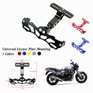 Adjustable Motorcycle License Plate Mount Bracket Rear Light Fender Eliminator