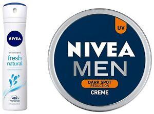 NIVEA Deodorant, Fresh Natural,150ML + Men Creme,Dark Marks Reduction Cream,75ML