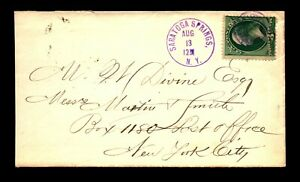 1878 Saratoga Springs Negative Star Fancy Cancel Purple w/ Letter - L23428