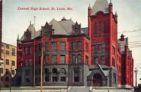 Early 1900s Central High School, St. Louis MO - Antique POSTCARD
