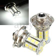 2 12V AC P26 S 24 SMD LED MOTO LAMPADE LAMPADINE FARO ANTERIORE FARI LUCI BIANCA