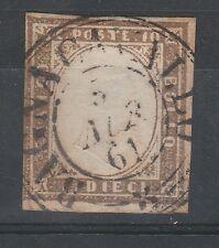 FRANCOBOLLI 1861 SARDEGNA 10 C. BAGNOCAVALLO 5/8 C/3719