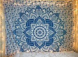 Mandala Tapestry Hippie Wall Hanging Indian Ombre Bohemian Bedding Bedspread