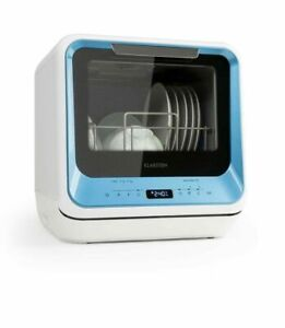 Klarstein Mini Dishwasher machine freestanding 6 programs blue