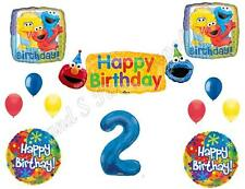 SESAME STREET 2nd Banner Happy Birthday Party Balloons Decoration Supplies Elmo