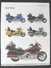 2009 HONDA GOLD WING ST1300 CBR1000RR CBR600RR VTX1300 MOTORCYCLE CATALOG MANUAL