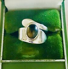 Tiffany And Co. Sterling Tigers Eye Spoon Ring Size 6